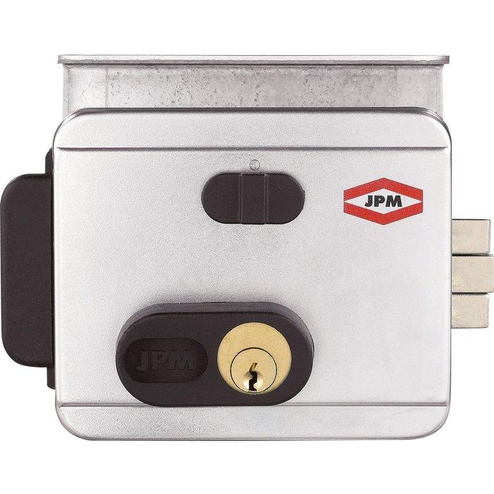 Électro-serrure - Cylindre 1 entrée et bouton de sortie - Tension 12 V