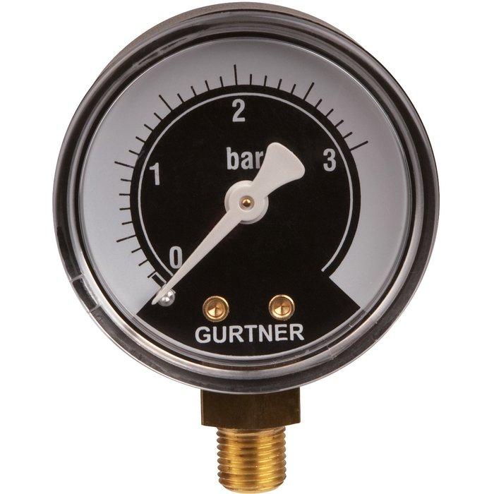 Manomètre gaz radial - 0 à 3 bar