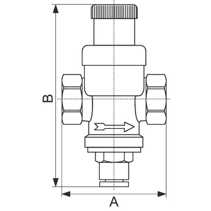 Réducteur de pression - Femelle / Femelle-1