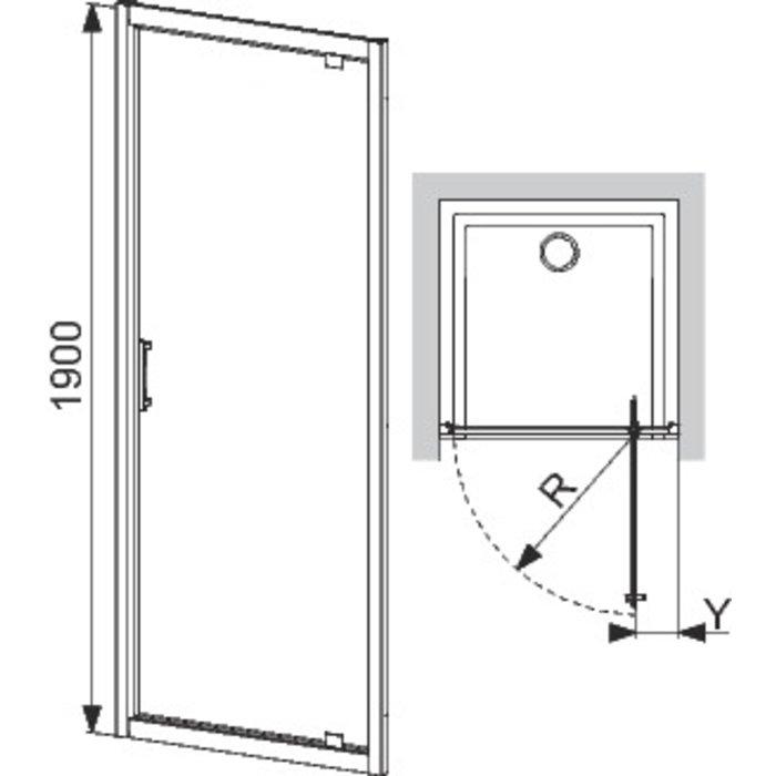 Porte de douche pivotante Tyxo-1