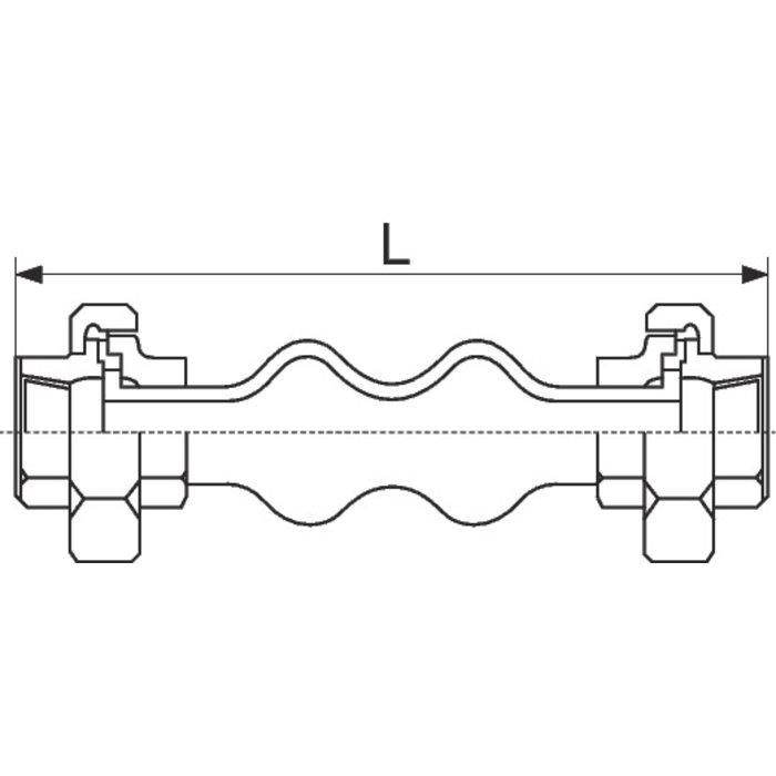 Manchon antivibratoire fileté - Femelle-1