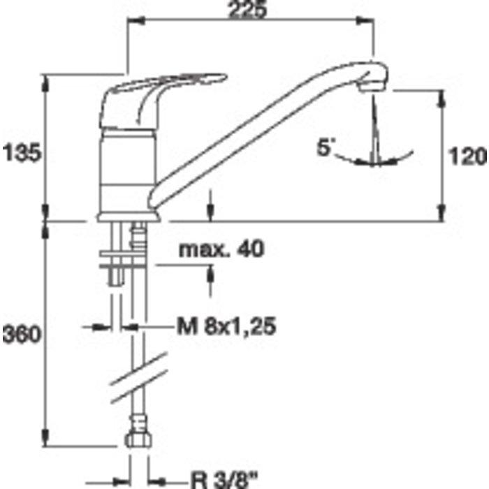 Mitigeur évier Première - Bec orientable-1