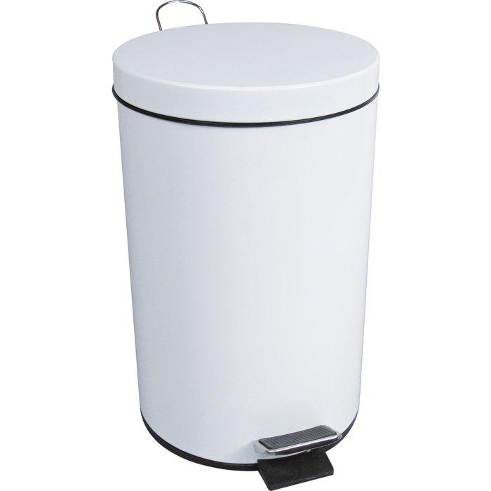 Poubelle sanitaire à pédale - Époxy blanc