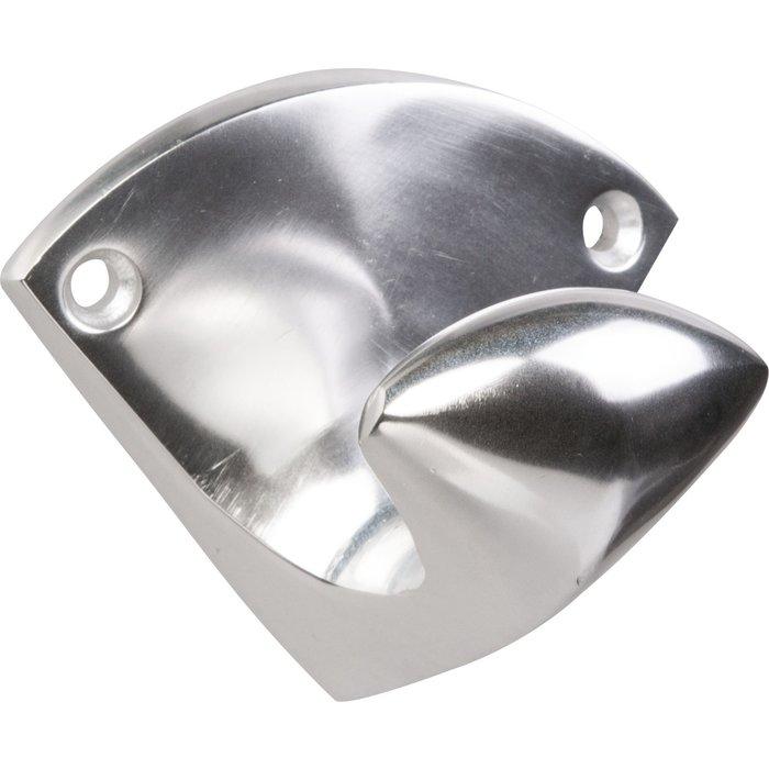 Patère 1 tête arrondie - Aluminium poli