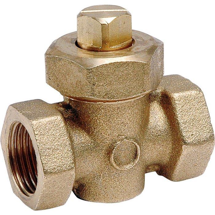 Robinet de vidange de radiateur - À boisseau avec presse étoupe - Femelle / Femelle-1
