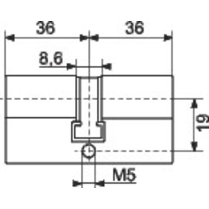 Cylindre 2 entrées PTT / EDF-1
