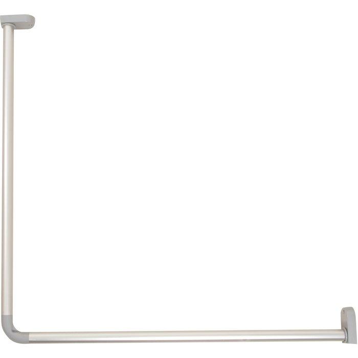 Kit porte-rideaux de douche d'angle - Aluminium