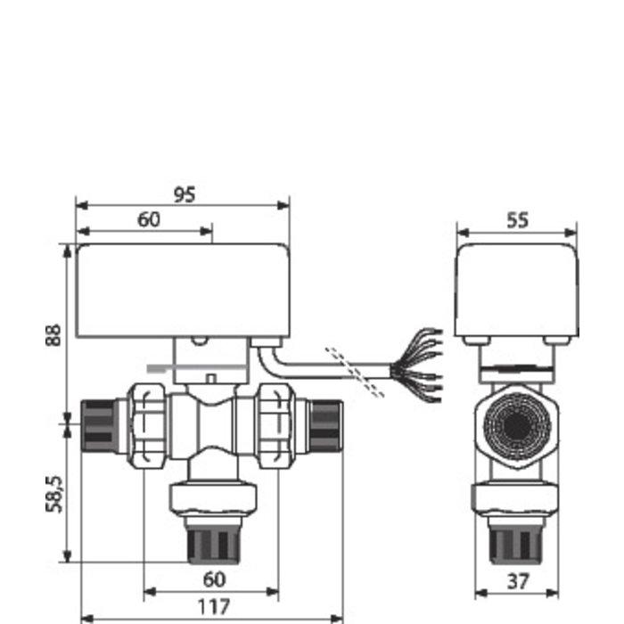 Vanne directionnelle à sphère motorisée-2