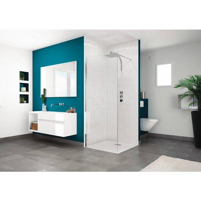 Paroi de douche fixe Smart Design Solo - Verre transparent-1