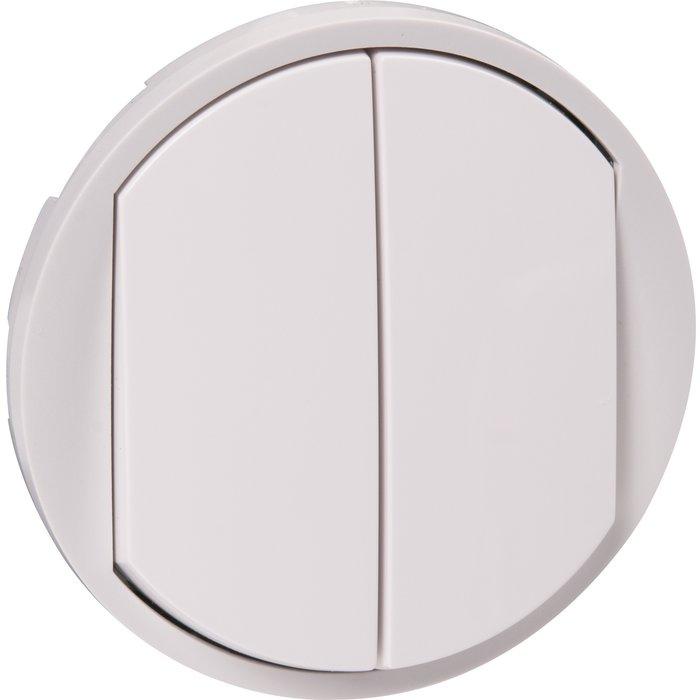 Enjoliveur d'interrupteur va-et-vient Soft 10AX Céliane - Double-1