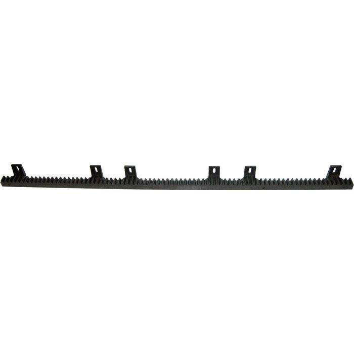 Crémaillère pour automatisme - Noir - Nylon - Longueur 1 m