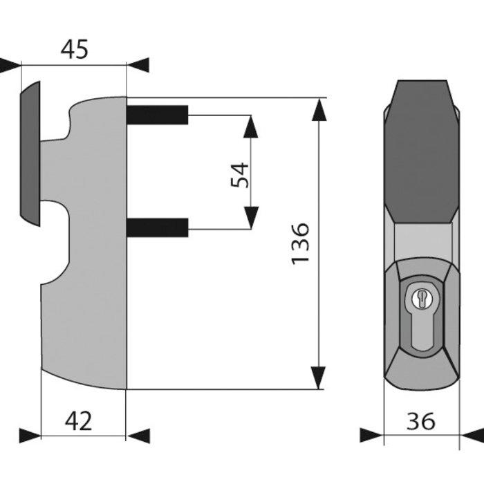 Module à bouton - Fixe - Pour serrure anti-panique Idéa / Push et Bolt-1