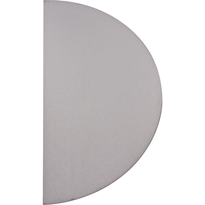 Plaque de propreté demi-lune - Inox brillant-2
