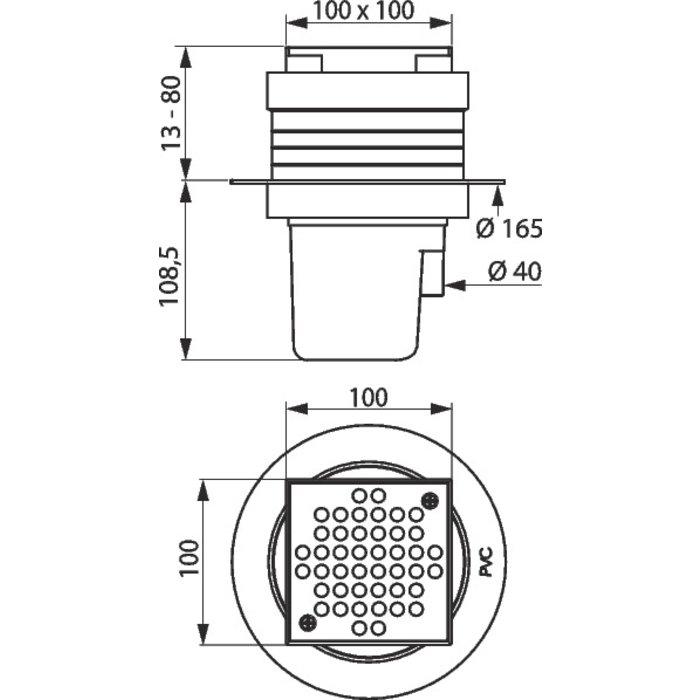 Siphon de sol à hauteur réglable-1