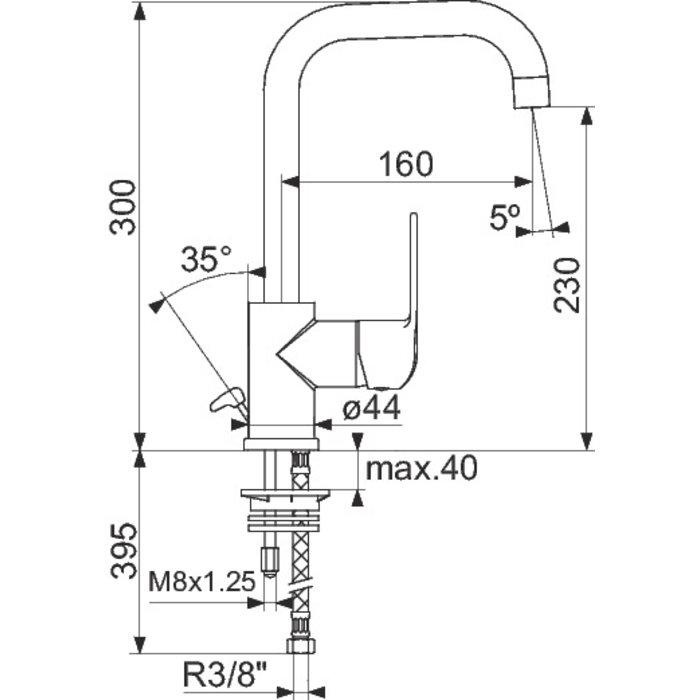 Mitigeur lavabo Pyla - Bec haut-1