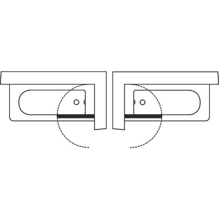 Pare-baignoire mobile Aurora - Fixation réversible-1