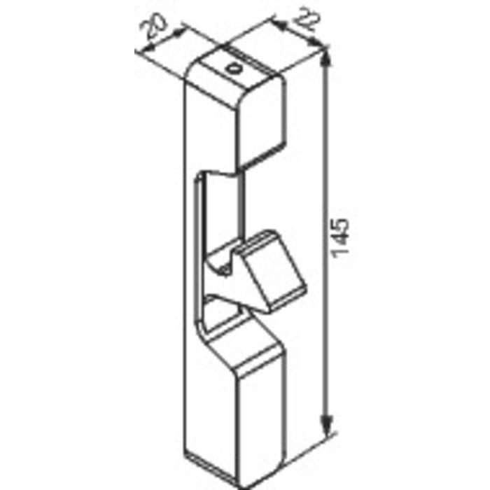 Gâche en applique - Pour serrure de portillon GA592 - Noir-1