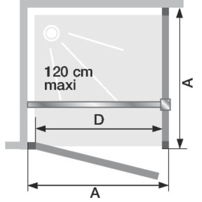 Porte de douche pivotante Smart sans seuil pour montage en angle-1