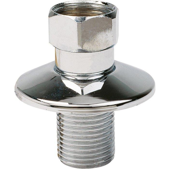 Raccord droit - Mâle / Femelle - Rosace diamètre 49 mm-1