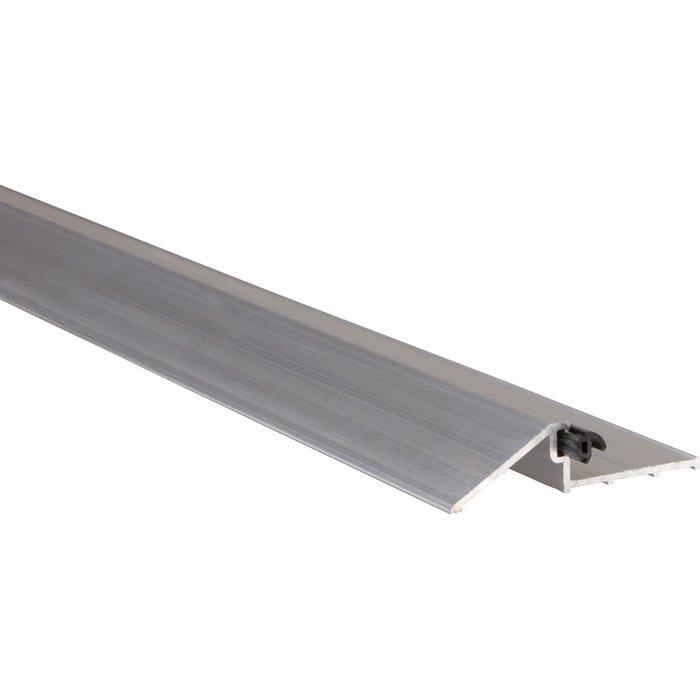 Seuil PG 16 - Pour porte d'entrée en bois - Aluminium - Longueur 1 m