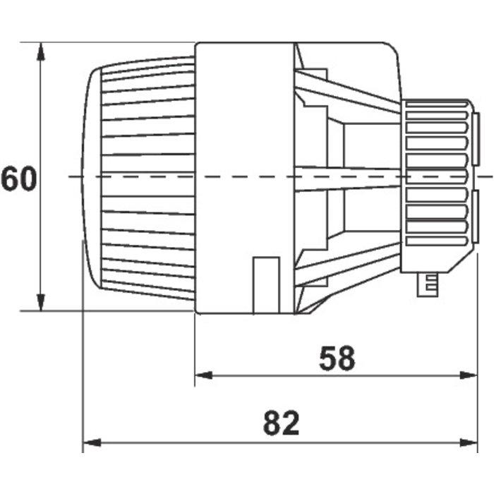 Tête de robinet thermostatique RA 2920 de radiateur - Pour les collectivités - Bulbe incorporé-1