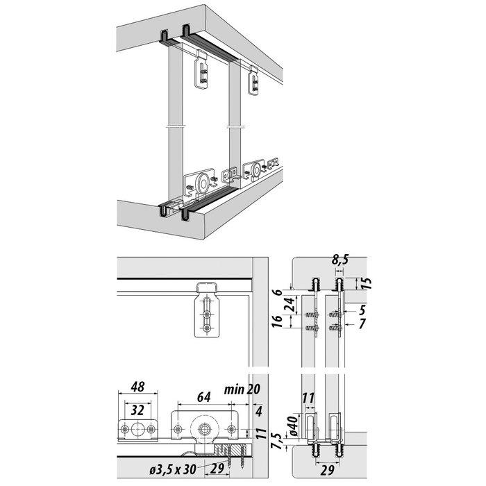 Kit garniture Slide line 56-1