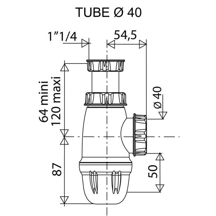 Siphon lavabo réglable-1