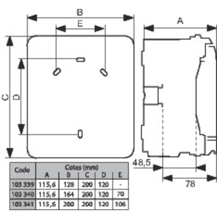 Coffret de distribution Plexo³ - 2 (+ 1) modules - 1 rangée-1