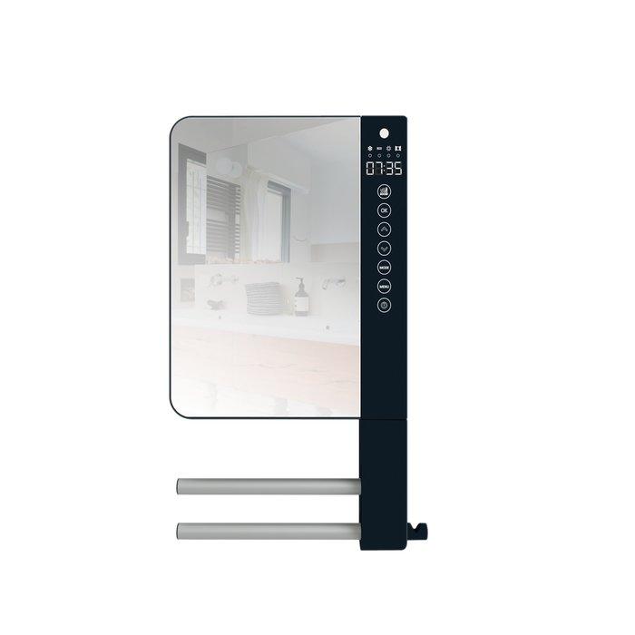 Radiateur sèche-serviettes soufflant 2 barres 1 patère et 1 miroir- TELIA 2