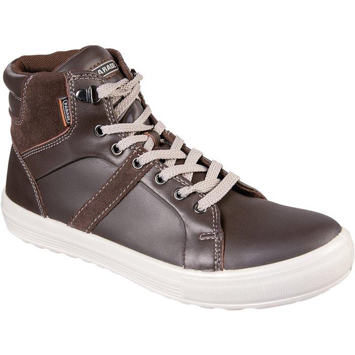 Chaussures hautes de sécurité Vision - Cuir - Marron / Noir-1