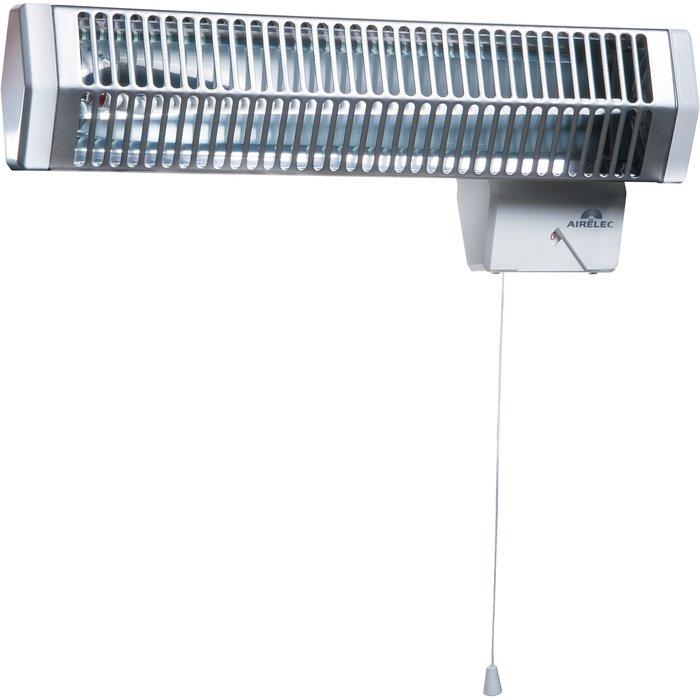 Sèche-serviette infrarouge Solaris 2 - Horizontal - Dimension 45 x 12 cm