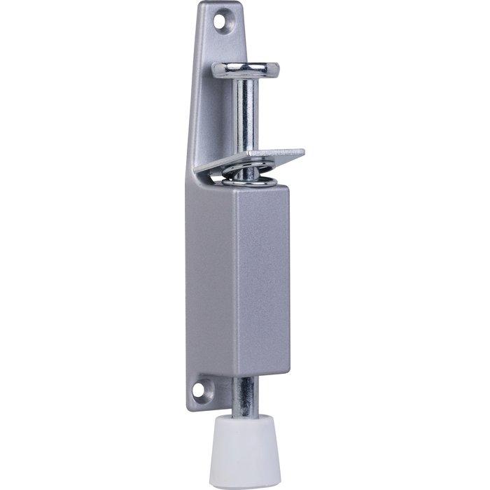 Arrêt de porte à pédale - Rond - Aluminium