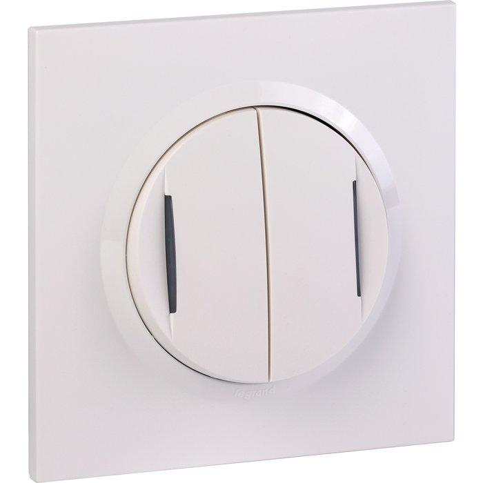 Transformateur pour 5 fonctions lumineuse + plaque carrée et griffes - Dooxie one - Blanc-1