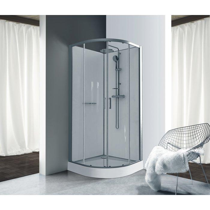 Cabine de douche Kara - Quart de rond - Portes coulissantes