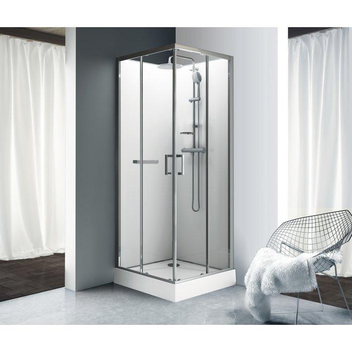 Cabine de douche Kara - Carrée - Portes coulissantes
