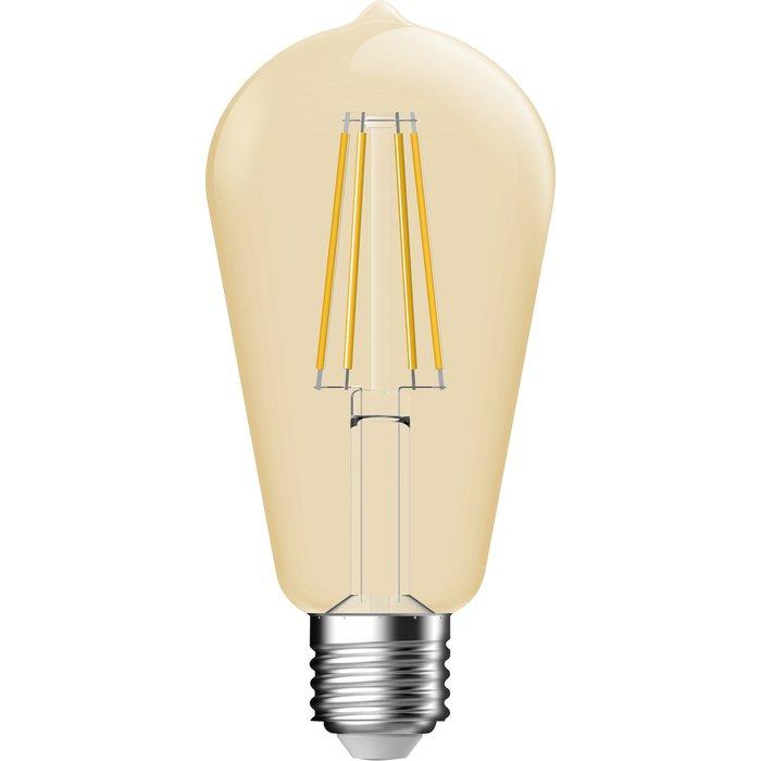 Ampoule LED décorative ambrée à filament - Edison - Culot E27