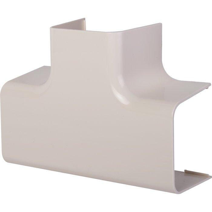 Té de dérivation plastique rigide blanc cassé RAL 9001