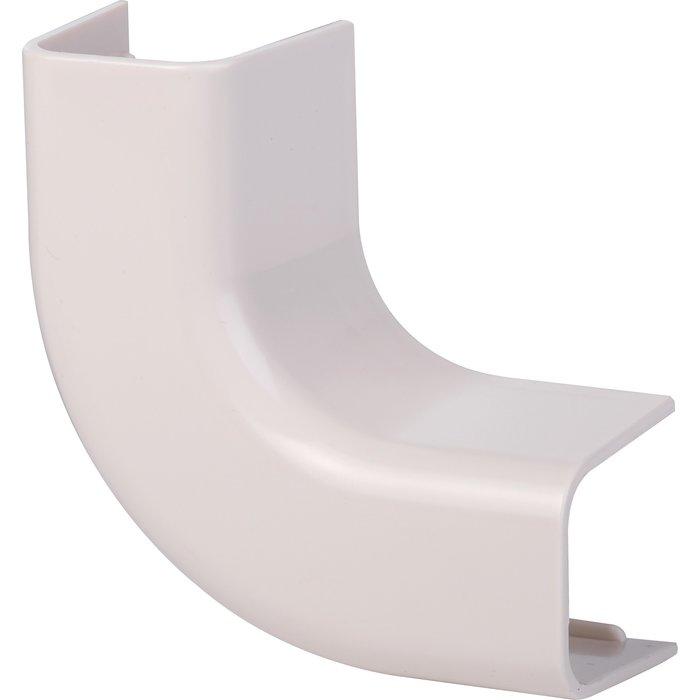 Coude plat 90° plastique rigide blanc cassé RAL 9001