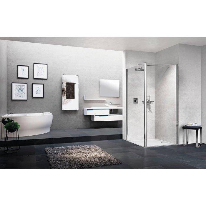 Porte de douche pivotante - Young 2.0 - 1B - Vitrage transparent-2