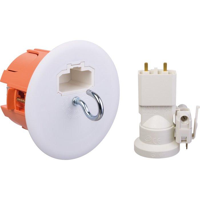 Boîte d'encastrement luminaire DCL - Pour  point de centre - Avec douille