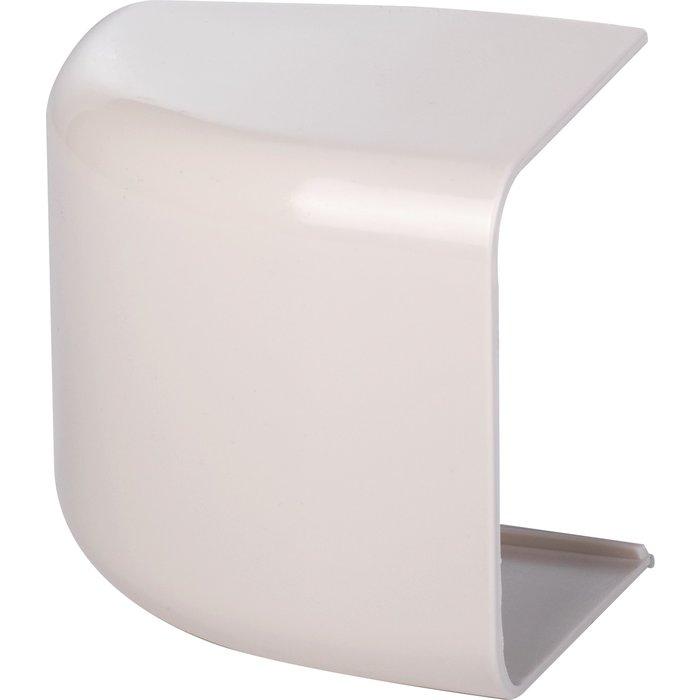 Embout plastique rigide blanc cassé RAL 9001