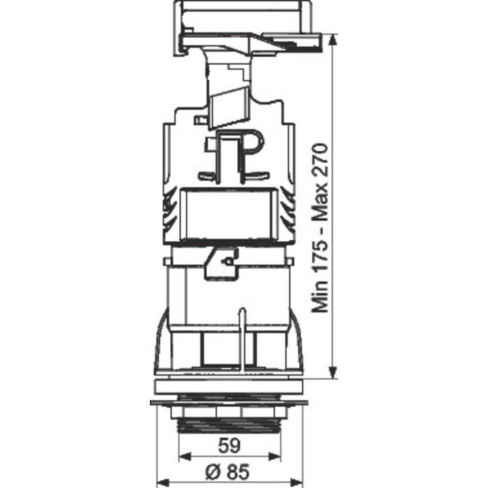 Soupape rénovation de mécanisme WC Clip'Easy - À tirette-1