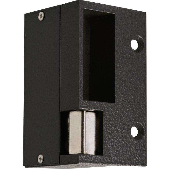 Gâche électrique - Pour serrure horizontale - Tension 12 V - Noir