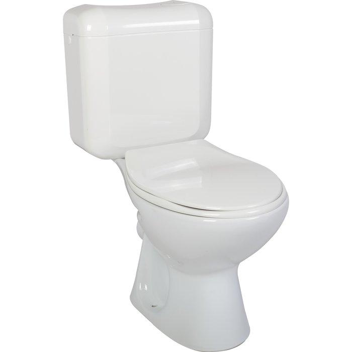Pack WC avec abattant double blanc-2