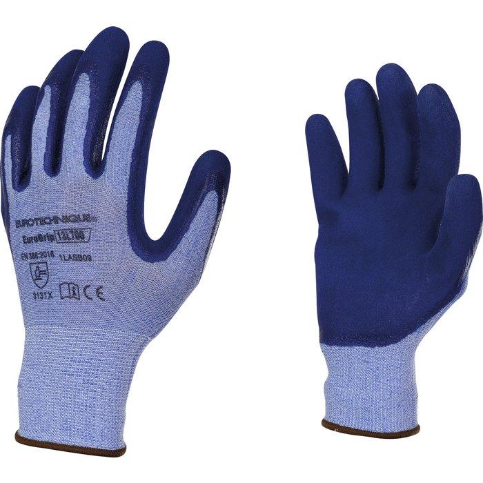 Gants manutention de précision - Enduction - Latex - Bleu - Mousse de latex