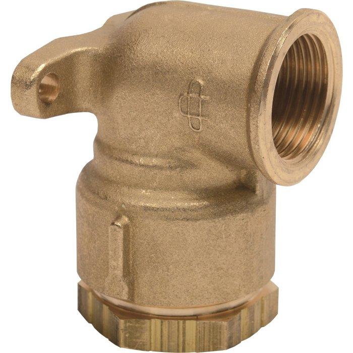 Applique filetée à serrage extérieur - Pour tube polyéthylène - Laiton - Femelle-1