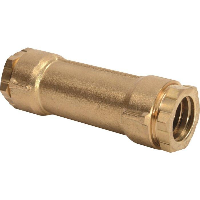 Manchon de réparation à serrage extérieur - Pour tube polyéthylène - Laiton - Femelle