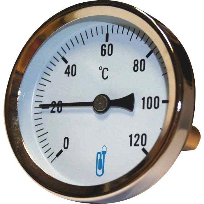 Thermomètre à cadran axial - Gradué 0 à 120°C