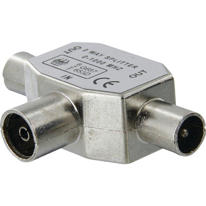 Répartiteur TV - 3 voies - Blindé - Diamètre 9,52 mm-1