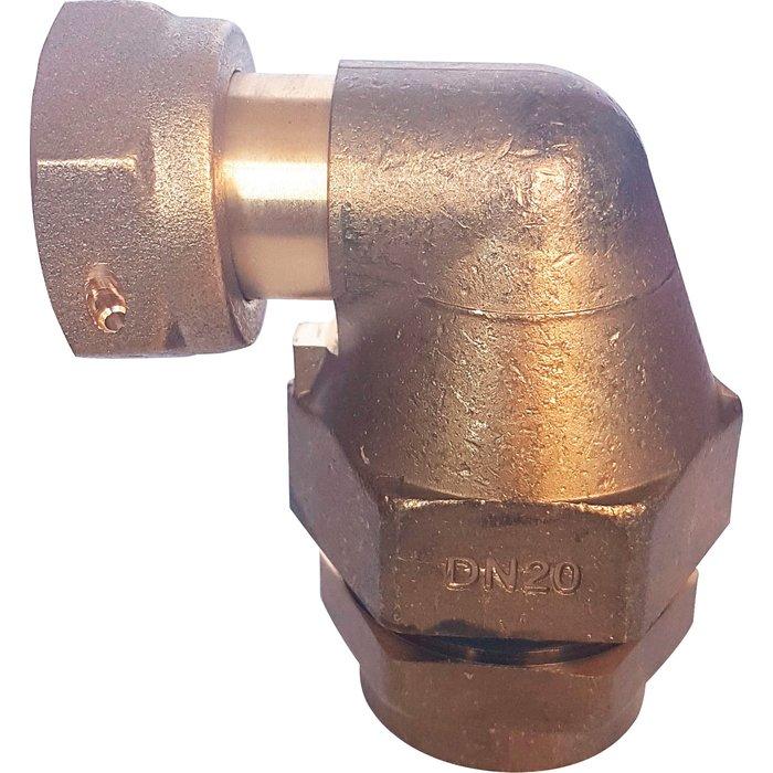 Coude 90° de transition PLT Flexiclic - Femelle - Joint plat-1